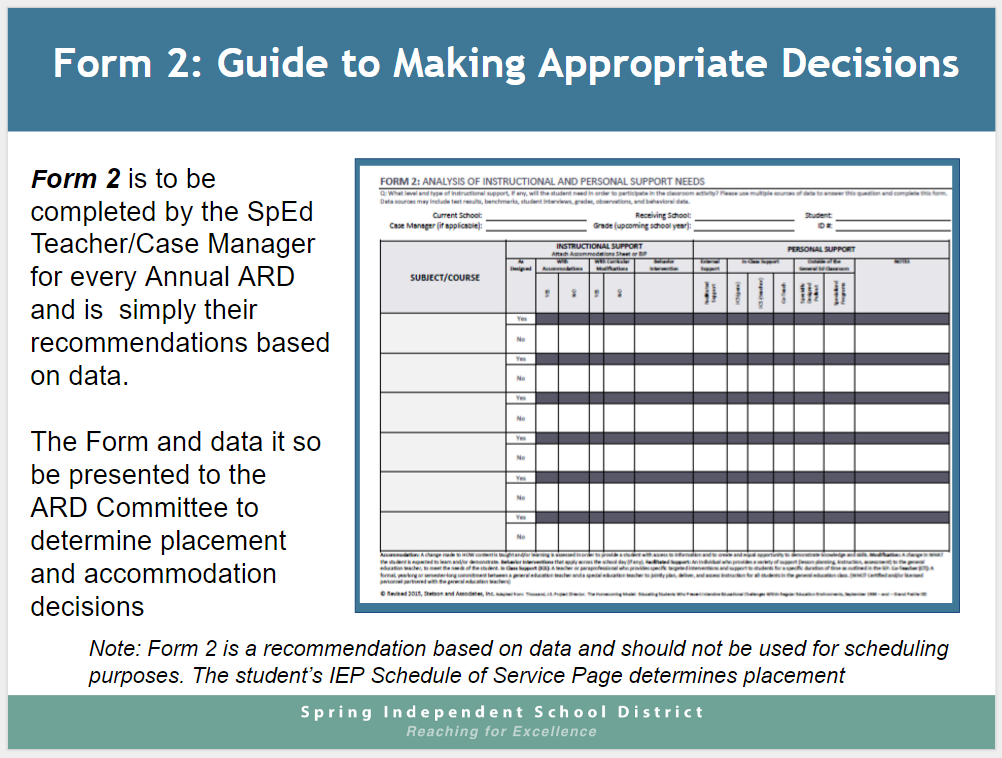 Form 2 Guidance