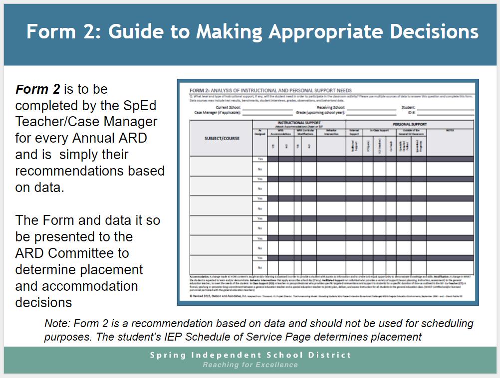 Form 2 Guidance